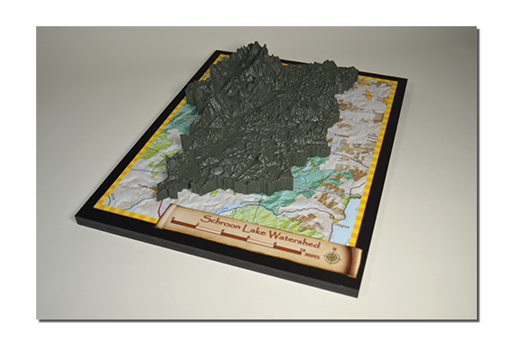Schroon Lake Topo Map Sample